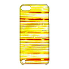 Yellow Curves Background Apple iPod Touch 5 Hardshell Case with Stand
