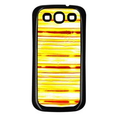 Yellow Curves Background Samsung Galaxy S3 Back Case (black)
