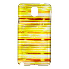 Yellow Curves Background Samsung Galaxy Note 3 N9005 Hardshell Case