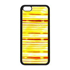 Yellow Curves Background Apple iPhone 5C Seamless Case (Black)