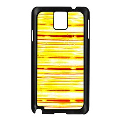 Yellow Curves Background Samsung Galaxy Note 3 N9005 Case (Black)