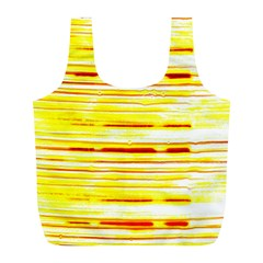 Yellow Curves Background Full Print Recycle Bags (L)