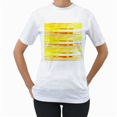 Yellow Curves Background Women s T-Shirt (White)