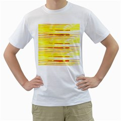 Yellow Curves Background Men s T Shirt (white)
