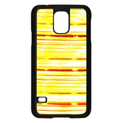 Yellow Curves Background Samsung Galaxy S5 Case (Black)