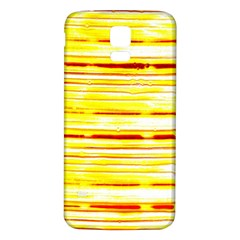 Yellow Curves Background Samsung Galaxy S5 Back Case (white)