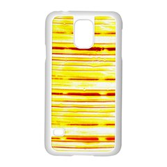 Yellow Curves Background Samsung Galaxy S5 Case (White)