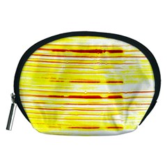 Yellow Curves Background Accessory Pouches (Medium)