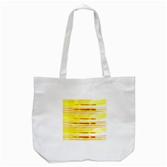Yellow Curves Background Tote Bag (White)