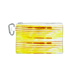 Yellow Curves Background Canvas Cosmetic Bag (s)