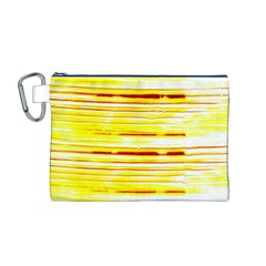 Yellow Curves Background Canvas Cosmetic Bag (m)