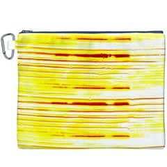 Yellow Curves Background Canvas Cosmetic Bag (XXXL)