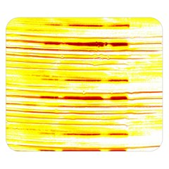 Yellow Curves Background Double Sided Flano Blanket (Small)