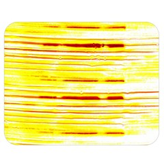 Yellow Curves Background Double Sided Flano Blanket (Medium)