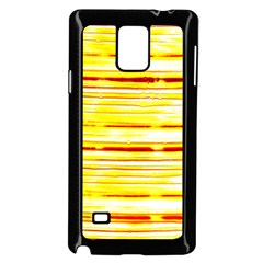 Yellow Curves Background Samsung Galaxy Note 4 Case (Black)