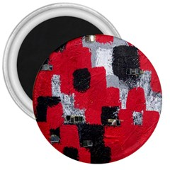 Red Black Gray Background 3  Magnets