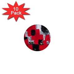 Red Black Gray Background 1  Mini Buttons (10 pack)