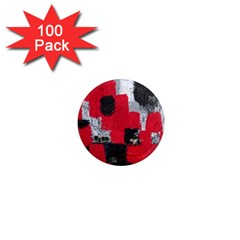 Red Black Gray Background 1  Mini Magnets (100 Pack)