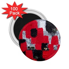 Red Black Gray Background 2.25  Magnets (100 pack)