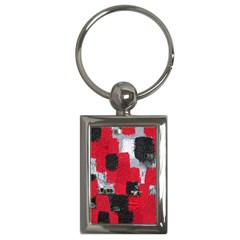 Red Black Gray Background Key Chains (rectangle)