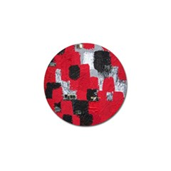 Red Black Gray Background Golf Ball Marker (10 Pack)
