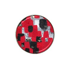 Red Black Gray Background Hat Clip Ball Marker (10 pack)