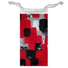 Red Black Gray Background Jewelry Bag