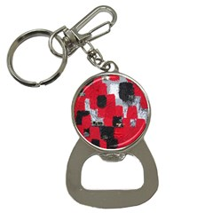 Red Black Gray Background Button Necklaces