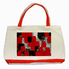Red Black Gray Background Classic Tote Bag (Red)