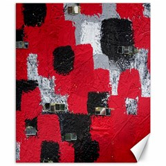 Red Black Gray Background Canvas 8  X 10
