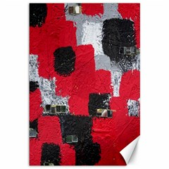 Red Black Gray Background Canvas 12  X 18