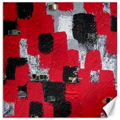 Red Black Gray Background Canvas 16  X 16