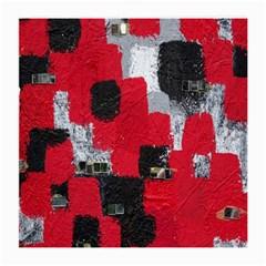 Red Black Gray Background Medium Glasses Cloth (2 Side)