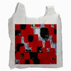 Red Black Gray Background Recycle Bag (one Side)
