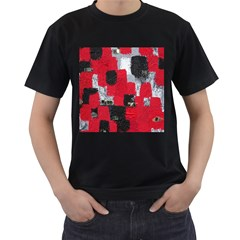 Red Black Gray Background Men s T Shirt (black)