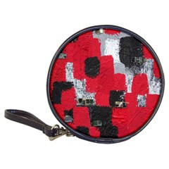 Red Black Gray Background Classic 20 Cd Wallets