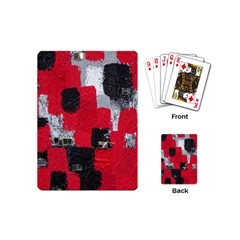 Red Black Gray Background Playing Cards (mini)