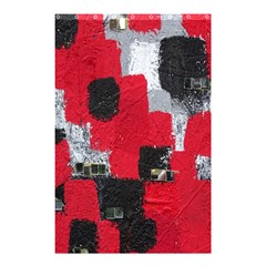 Red Black Gray Background Shower Curtain 48  x 72  (Small)