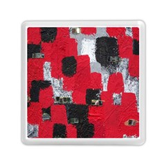 Red Black Gray Background Memory Card Reader (square)