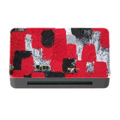 Red Black Gray Background Memory Card Reader with CF