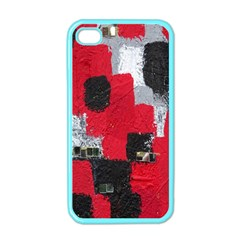 Red Black Gray Background Apple iPhone 4 Case (Color)