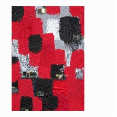 Red Black Gray Background Small Garden Flag (Two Sides)