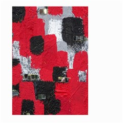 Red Black Gray Background Large Garden Flag (two Sides)