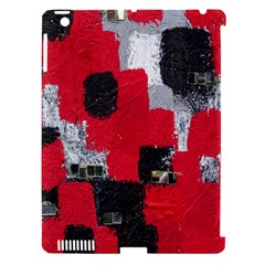 Red Black Gray Background Apple iPad 3/4 Hardshell Case (Compatible with Smart Cover)