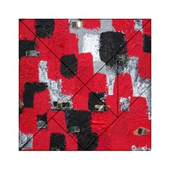 Red Black Gray Background Acrylic Tangram Puzzle (6  x 6 )