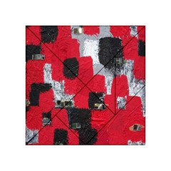 Red Black Gray Background Acrylic Tangram Puzzle (4  x 4 )