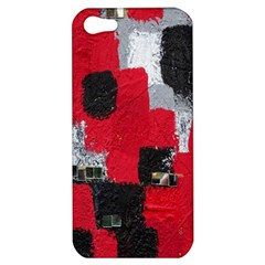 Red Black Gray Background Apple iPhone 5 Hardshell Case