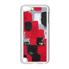 Red Black Gray Background Apple iPod Touch 5 Case (White)