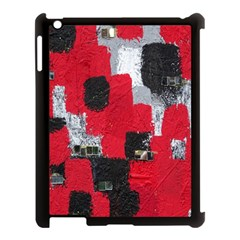 Red Black Gray Background Apple iPad 3/4 Case (Black)