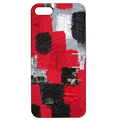 Red Black Gray Background Apple Iphone 5 Hardshell Case With Stand